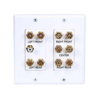 2-Gang 5.1 Surround Sound Distribution Wall Plate - Monoprice®