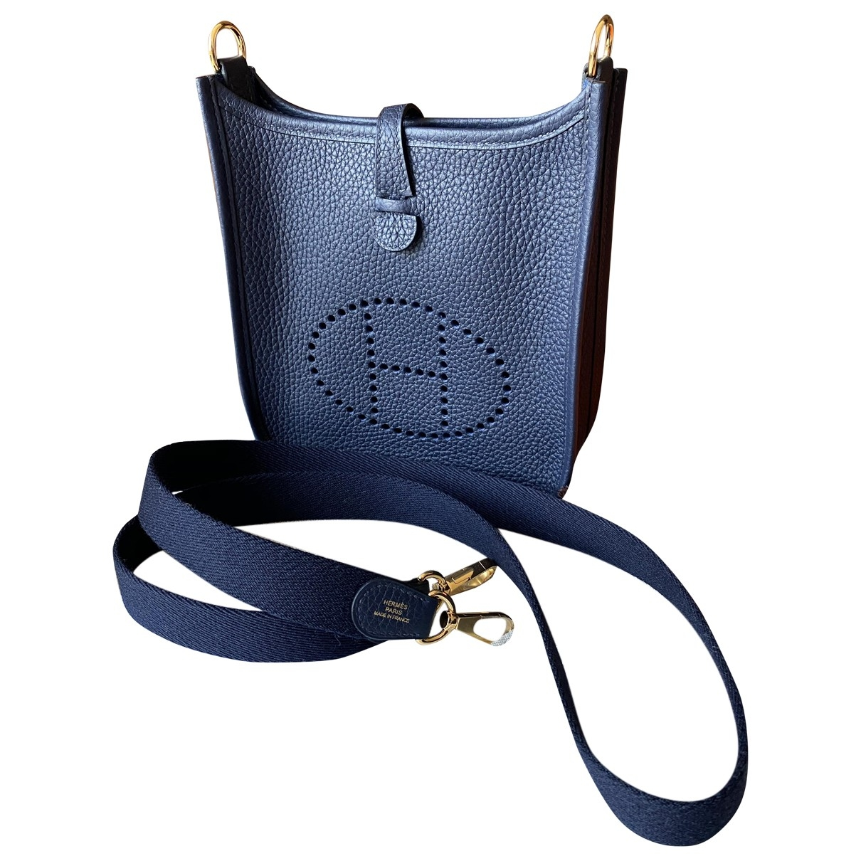 Hermès Evelyne Blue Leather handbag for Women \N