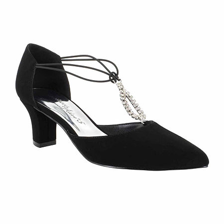 Easy Street Womens Moonlight Pumps Cone Heel, 7 1/2 Medium, Black