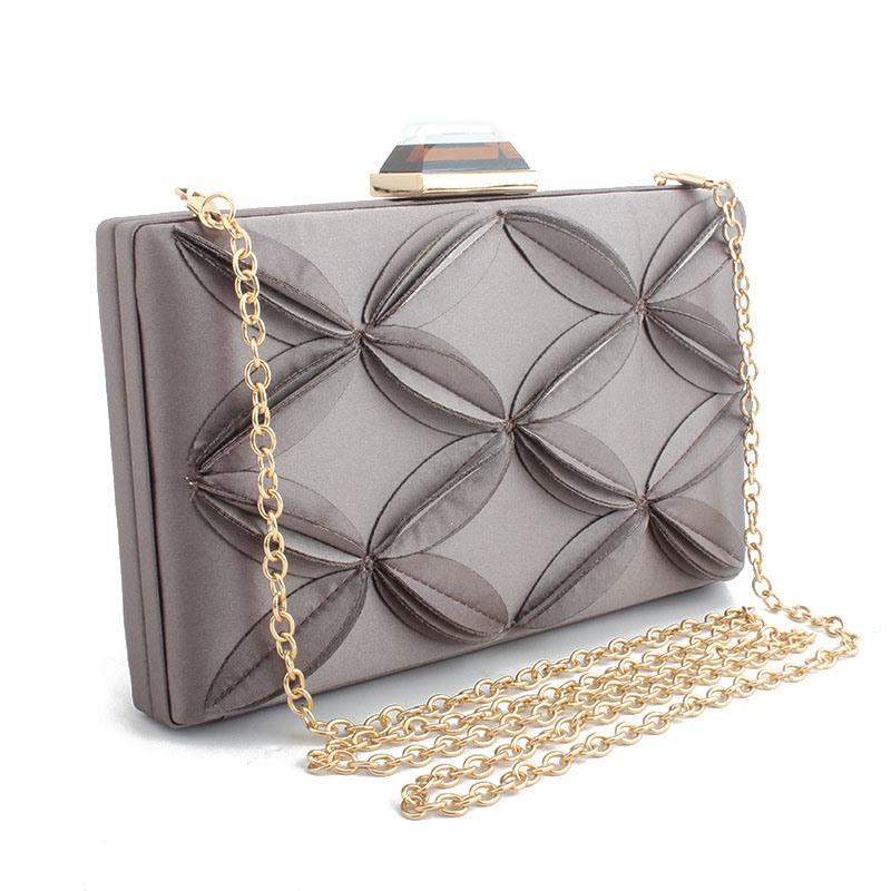 Ericdress Versatile Satin Rectangle Clutches Evening Bags