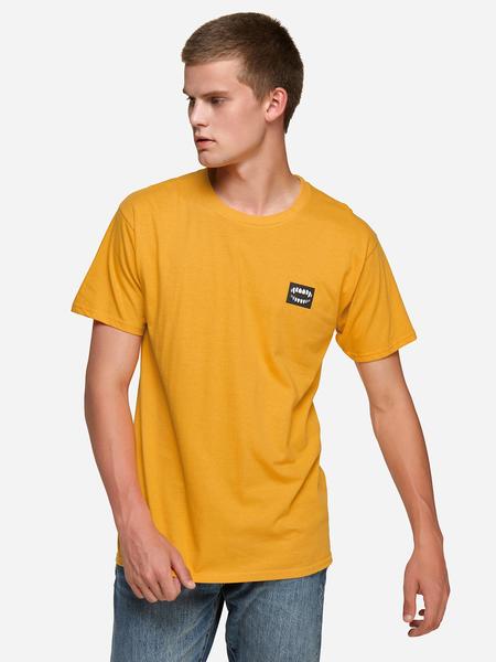 Yoins Gold Keep On Pushing Mouse Print Crew Neck Short Sleeve Men's T-Shirt