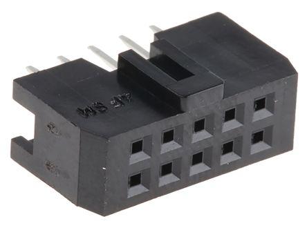 Hirose , HIF3FB 2.54mm Pitch 10 Way 2 Row Straight PCB Socket, Through Hole, Solder Termination