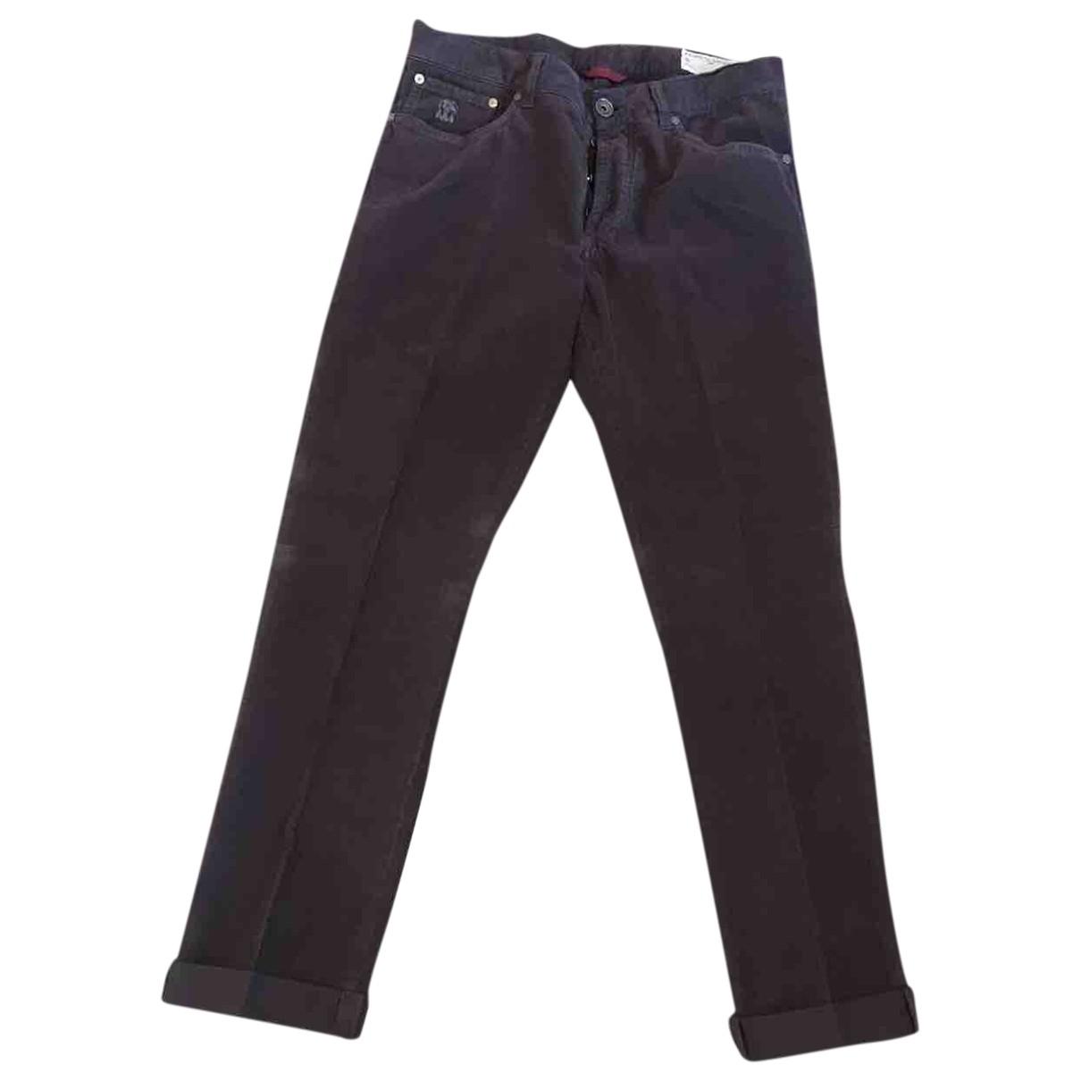 Brunello Cucinelli \N Purple Velvet Trousers for Men 48 IT