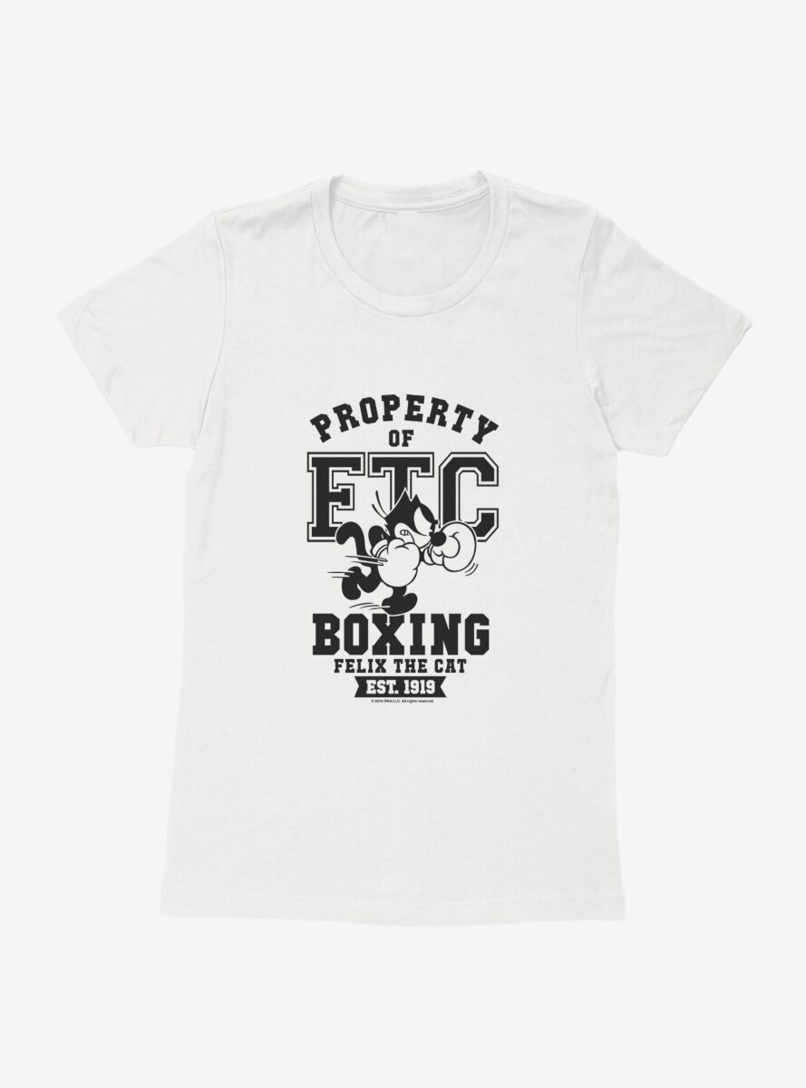 Felix The Cat Property of FTC Boxing Womens T-Shirt