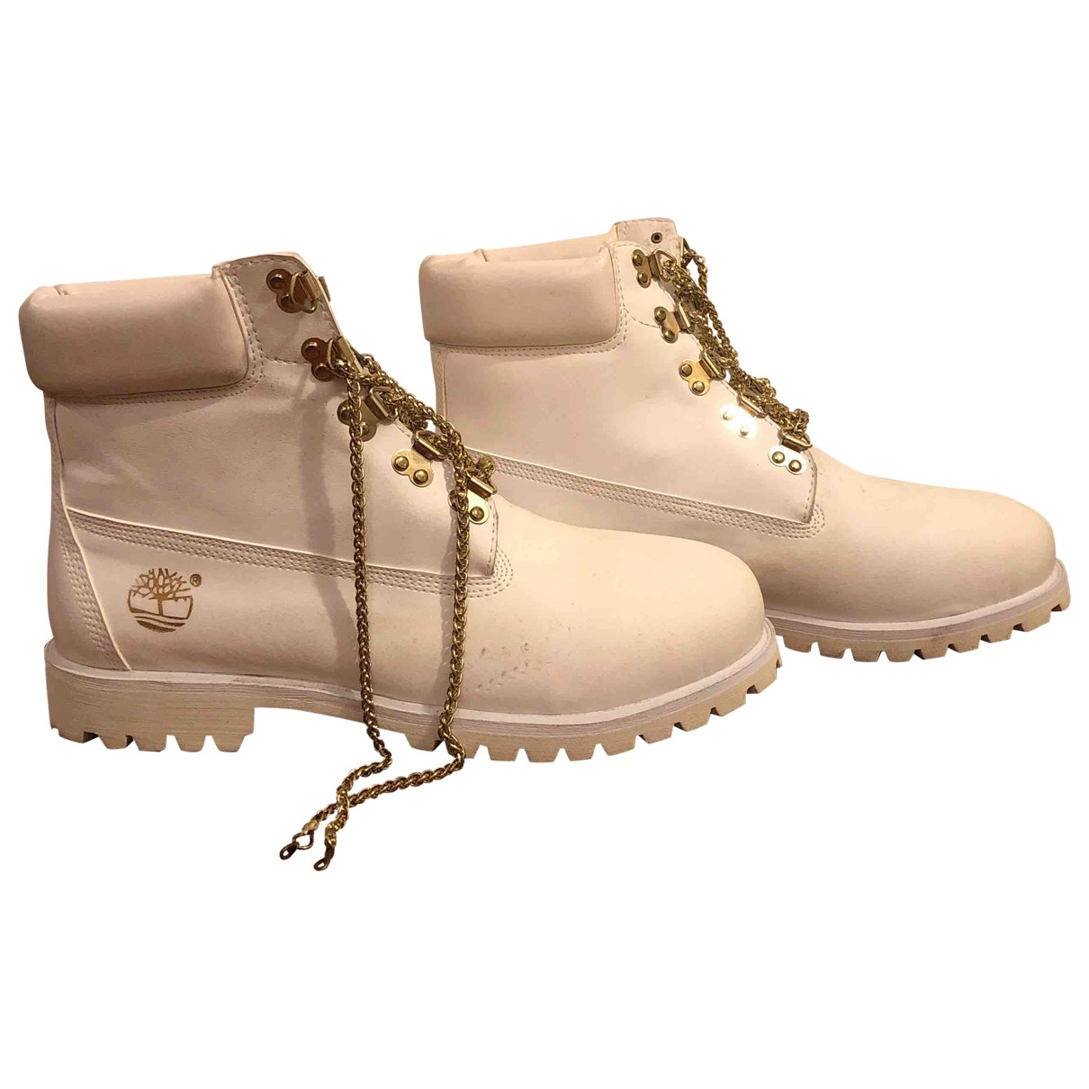 Timberland \N White Leather Boots for Men 11 US