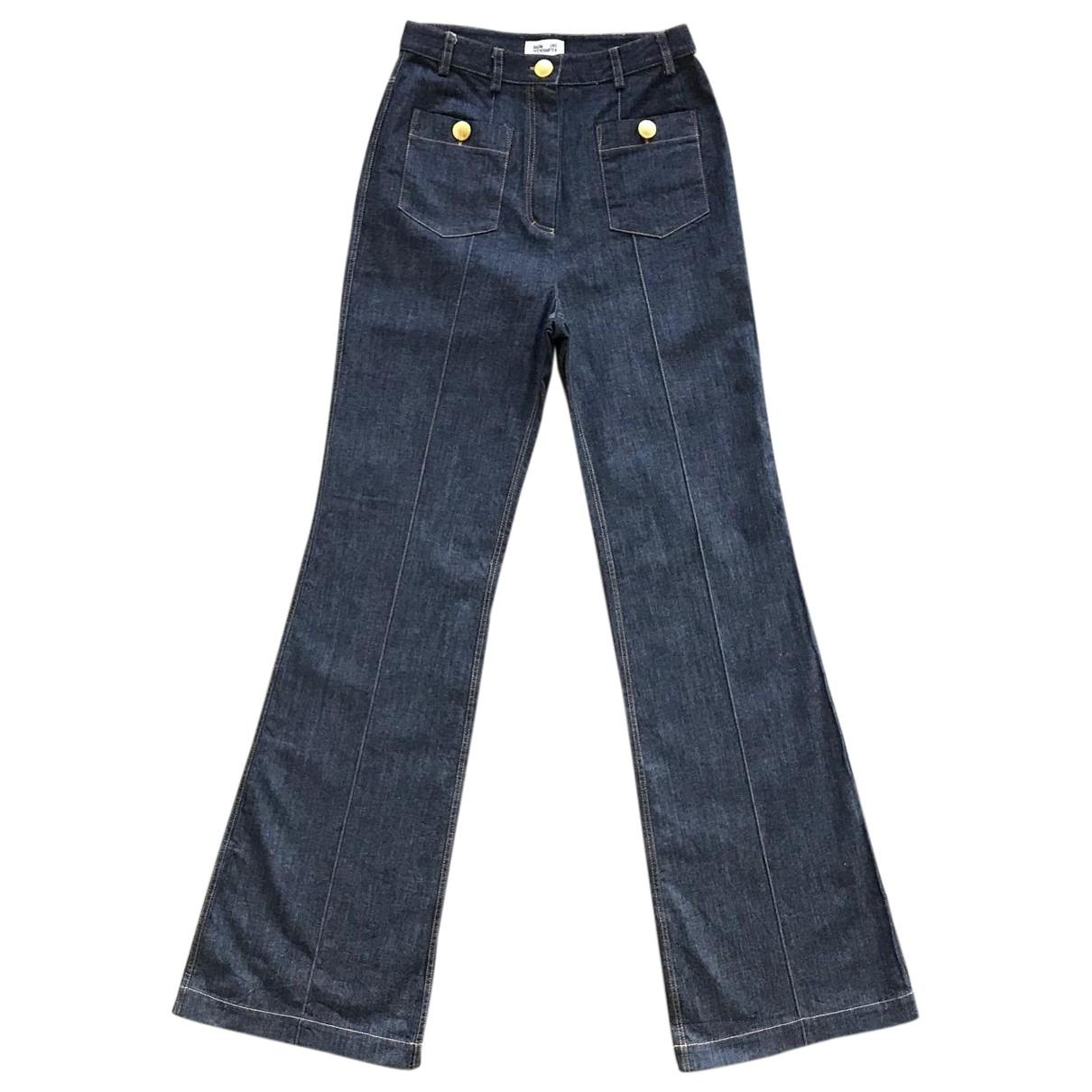 Baum Und Pferdgarten \N Navy Cotton Trousers for Women S International