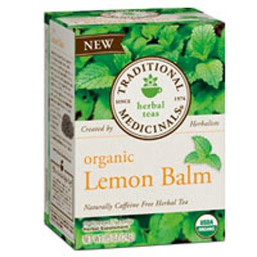 Organic Lemon Balm Tea 16 BAGS by Traditional Medicinals Teas