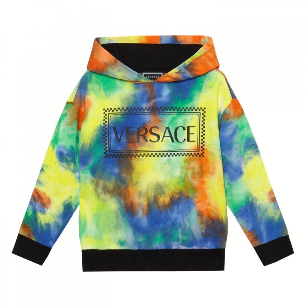 Versace Boys Multi-coloured Hooded Sweater Colour: MULTI COLOURED, Siz