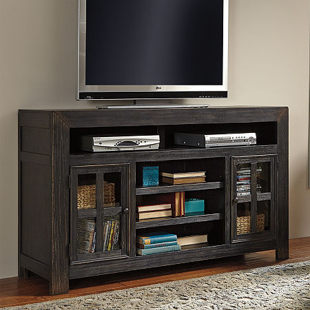 Signature Design By Ashley Gavelston TV Stand, One Size , Black