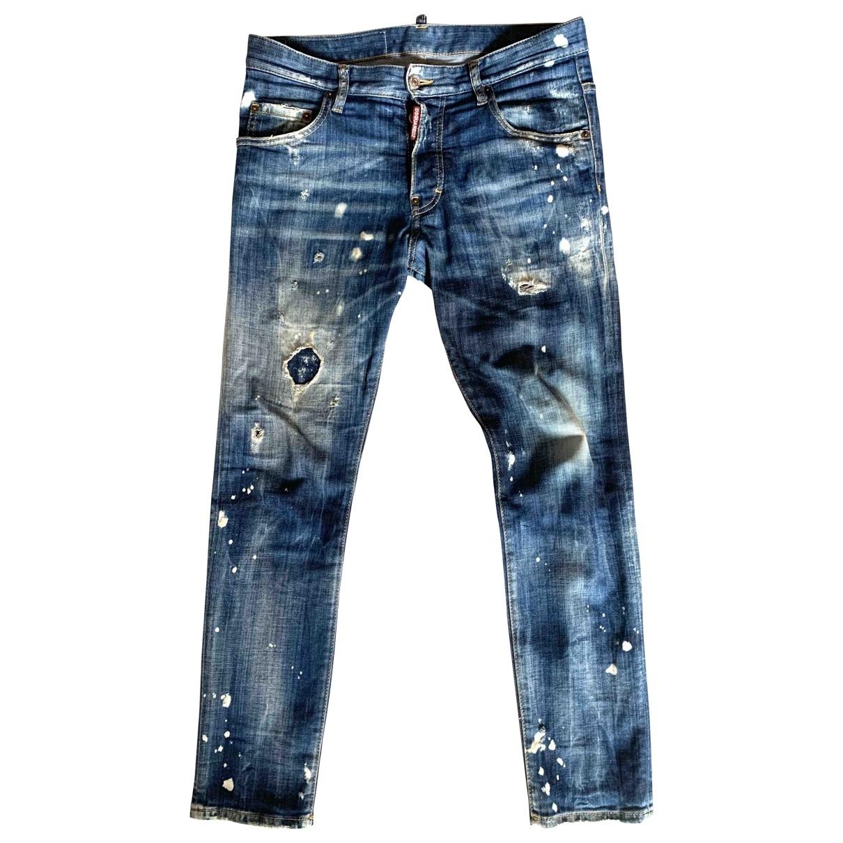 Dsquared2 \N Blue Cotton - elasthane Jeans for Men 32 US
