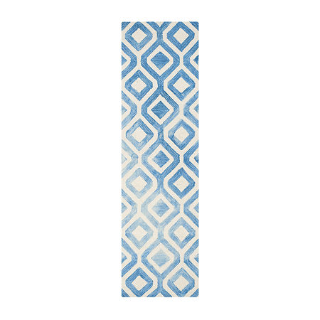 Safavieh Dip Dye Collection Lucian Geometric Runner Rug, One Size , Multiple Colors
