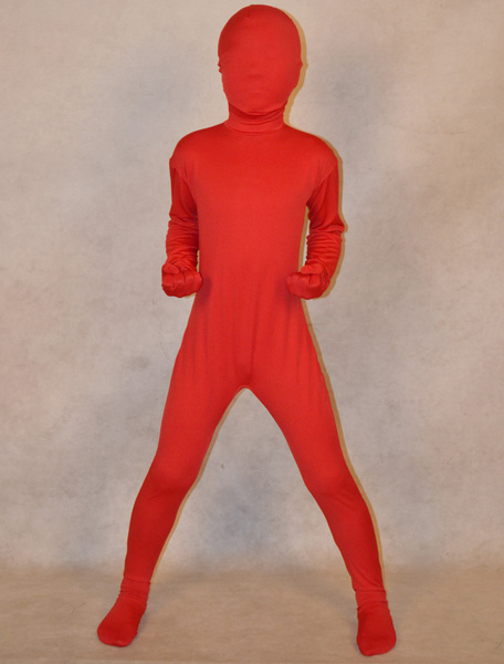 Milanoo Halloween Unisex Lycra Zentai Suits For Kids Halloween