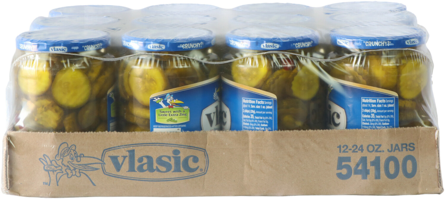 Vlasic Zesty Bread And Butter Pickle Chips Sweet 7214081B11-12PK