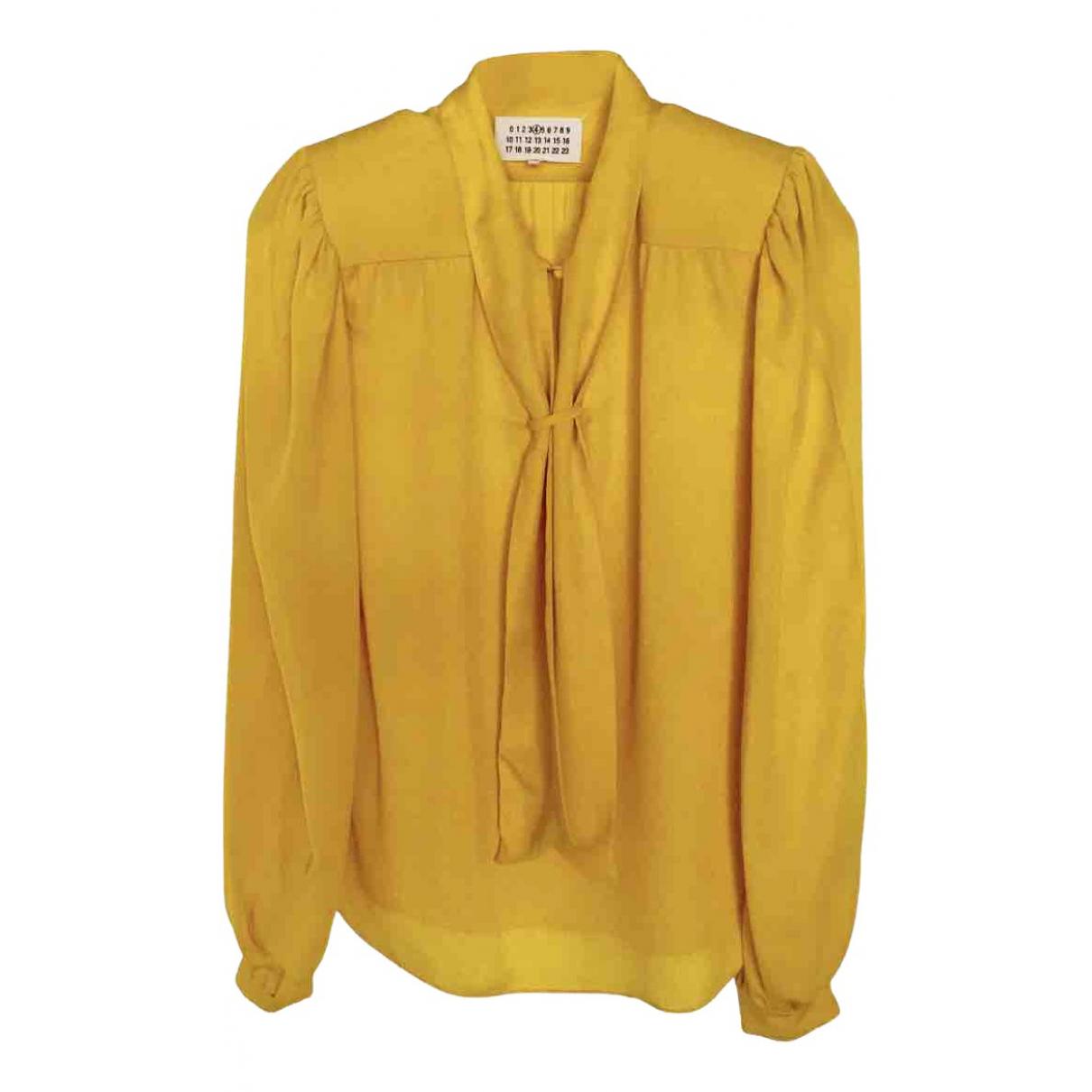 Maison Martin Margiela \N Yellow Silk  top for Women 40 IT