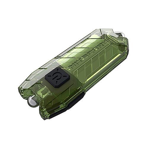 Nitecore Portable Rechargeable USB Flashlight 45LM 2 Modes LED Key Light - Green
