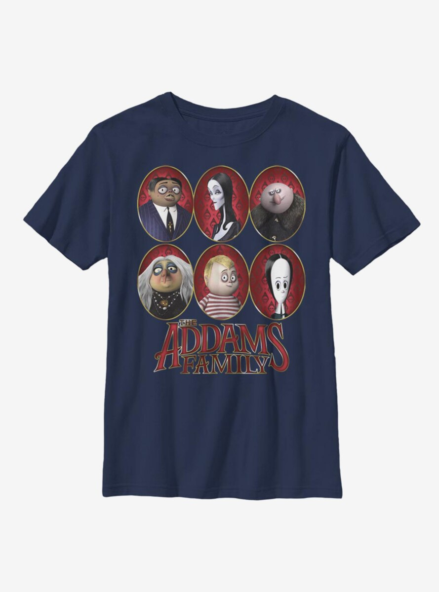 The Addams Family Family Portraits Youth T-Shirt