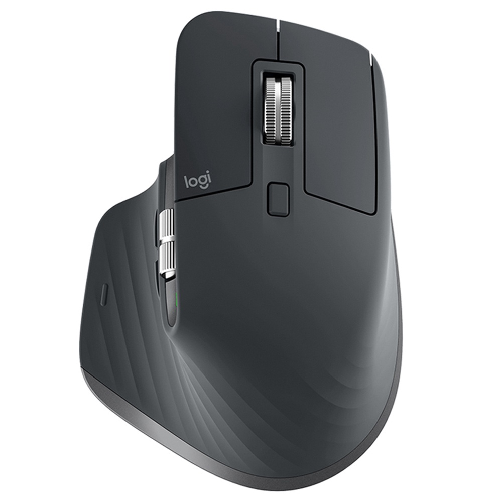 Logitech MX Master 3 Advanced Bluetooth 2.4GHz Wireless Mouse Dual-mode 4000DPI 7 Buttons USB Quick Charging Transfer Text - Black