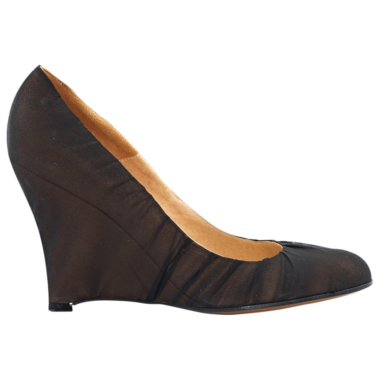 Maison Martin Margiela \N Black Cloth Heels for Women 41 EU
