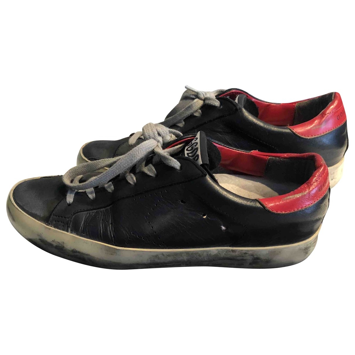 Golden Goose Superstar Blue Leather Trainers for Women 35 EU