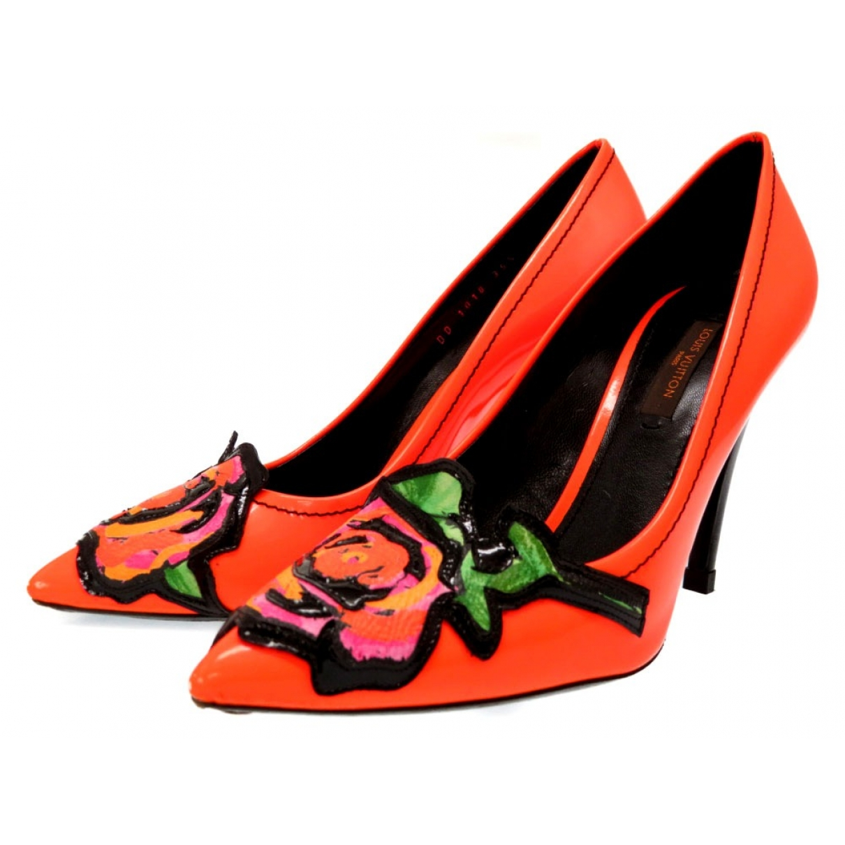 Louis Vuitton \N Orange Patent leather Heels for Women 35.5 EU