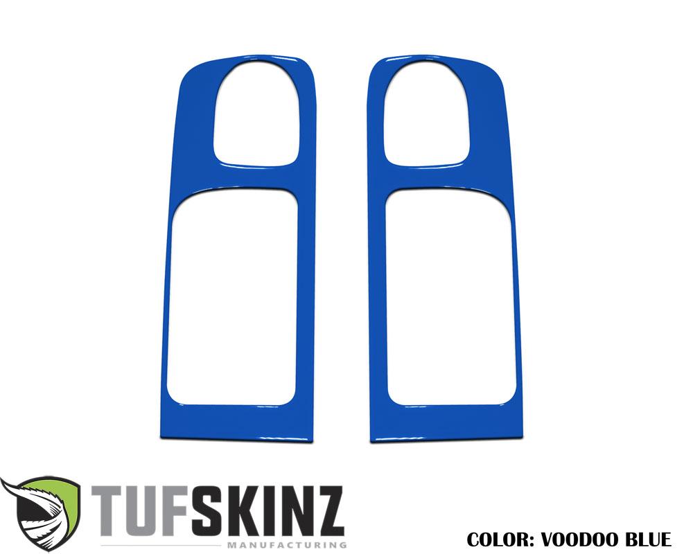 Tufskinz TUN030-VODB-G Crewmax Rear Door Handle Accent Trim Fits 14-up Toyota Tundra 2 Piece Kit Voodoo Blue