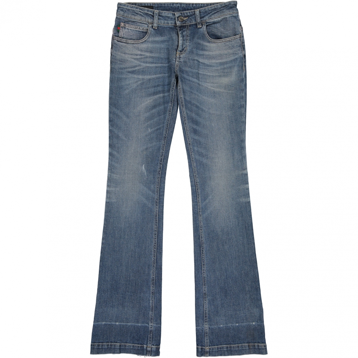 Gucci \N Blue Cotton - elasthane Jeans for Women 26 US