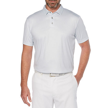 PGA TOUR Mens Short Sleeve Polo Shirt Big and Tall, X-large Tall , Blue