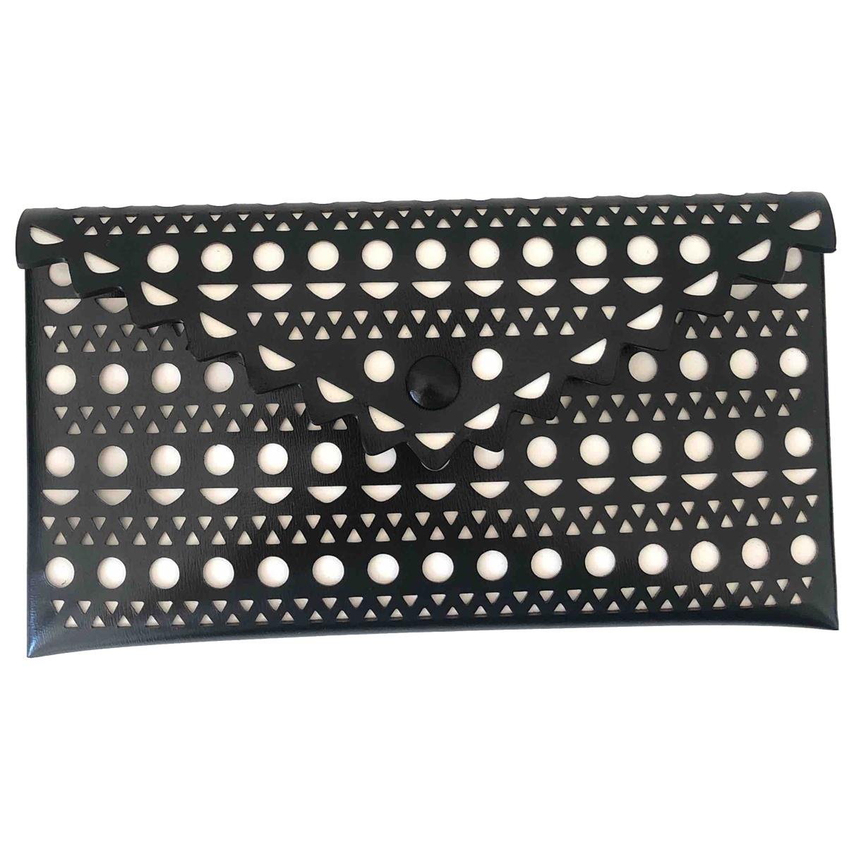 Alaïa \N Black Leather Clutch bag for Women \N