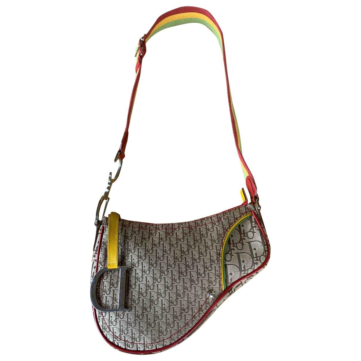 Dior Saddle Beige Cloth handbag for Women \N