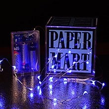 54 Blue 20 L.E.D. Lights Garland - Embellishments - # Of Led: 20 Length: 54 by Paper Mart