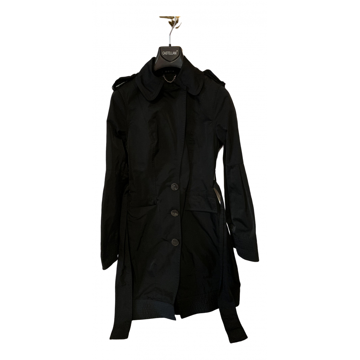 Non Signé / Unsigned \N Black Trench coat for Women 40 IT