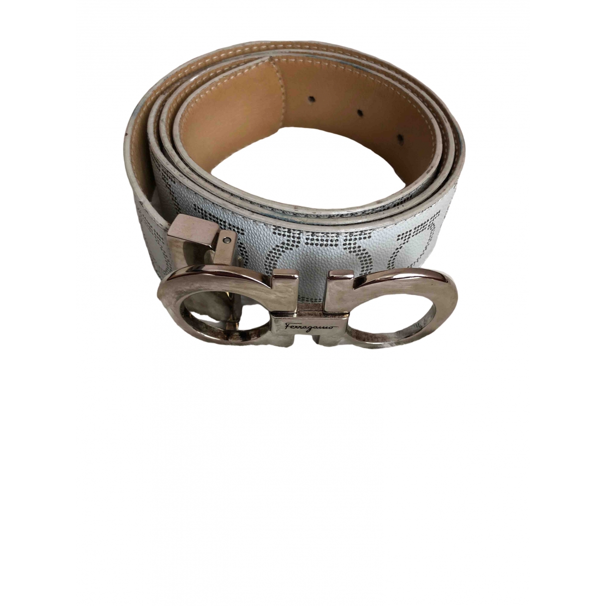 Salvatore Ferragamo \N Grey Leather belt for Women 95 cm