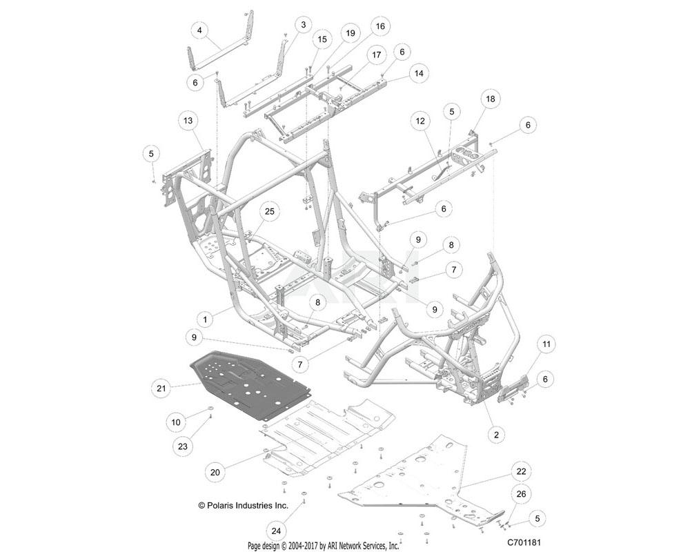 Polaris OEM 1022443-329 WELD-SEAT BASE, BLK