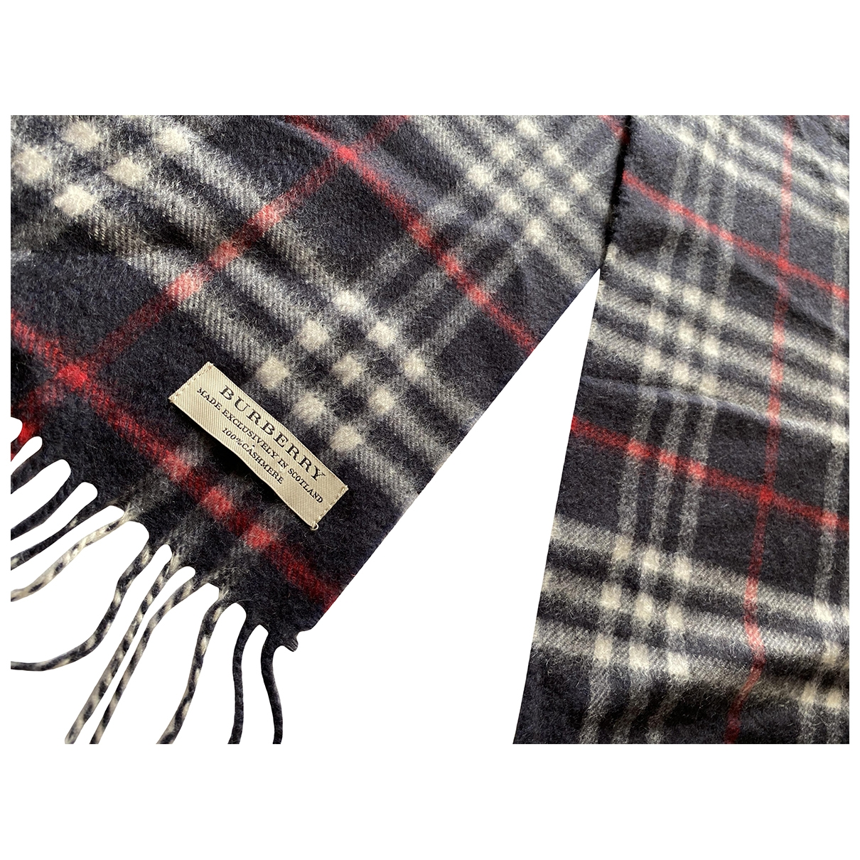 Burberry \N Navy Cashmere scarf for Women \N