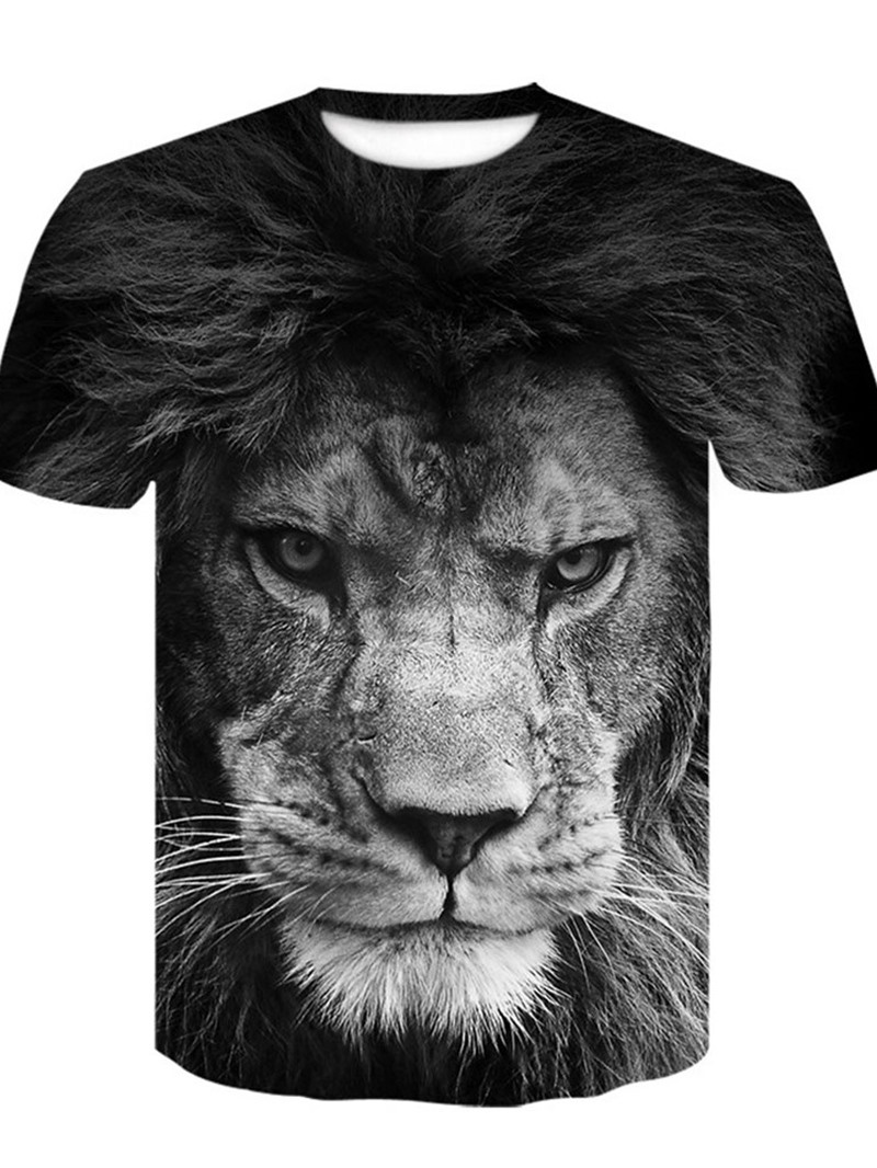Ericdress Casual Print Animal Loose Short Sleeve T-shirt