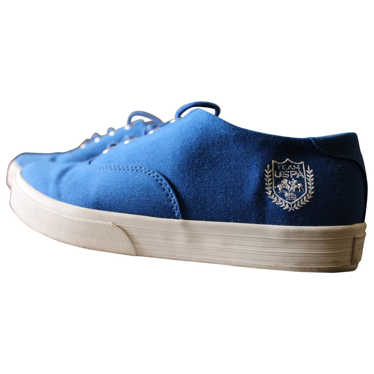 Polo Ralph Lauren \N Blue Cloth Trainers for Women 37 EU