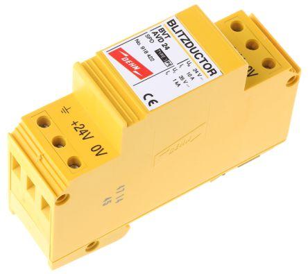 Dehn BVT Series 35 V dc Maximum Voltage Rating 2kA Maximum Surge Current Lightning Arrester, DIN Rail Mounting