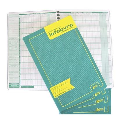 Dean & Fils Dean and Lefebvre Payroll Book Designed - Bilingual,16 employees 13532