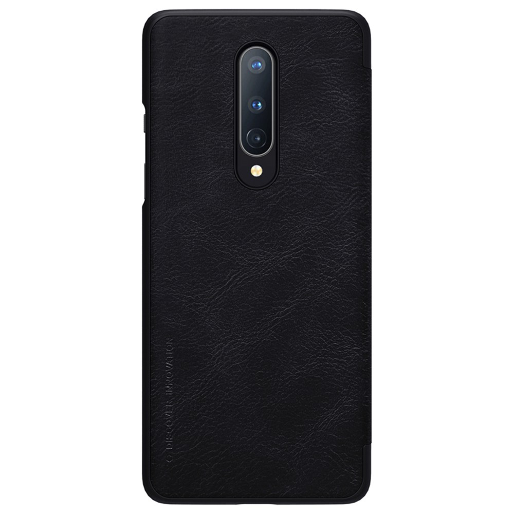 NILLKIN Protective Leather Phone Case For Oneplus 8 Smartphone - Black