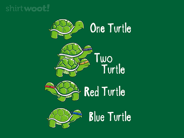 One Turtle Two Turtle T Shirt