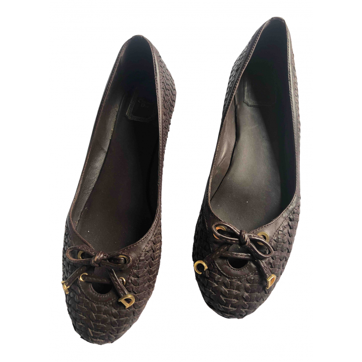 Dior \N Brown Leather Ballet flats for Women 40.5 EU