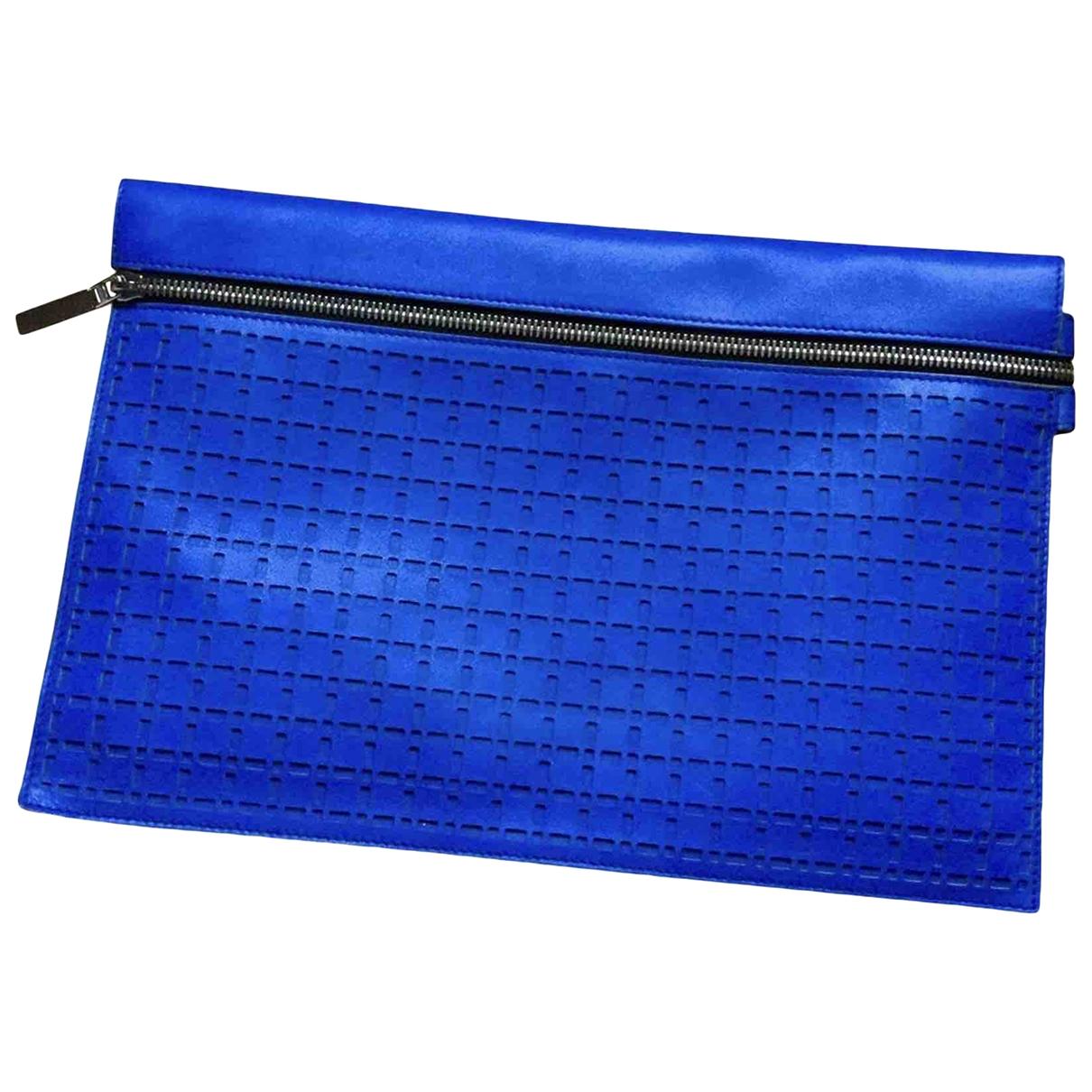 Victoria Beckham \N Blue Leather Clutch bag for Women \N