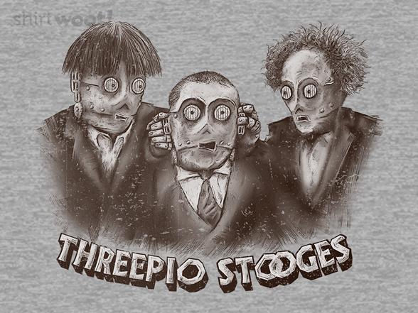 Threepio Stooges T Shirt