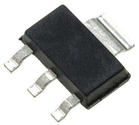 ON Semiconductor , SPZTA42T1G NPN Transistor and Digital Transistor, 500 mA 300 V dc, Single, 3 + Tab-Pin SOT-223 (1000)