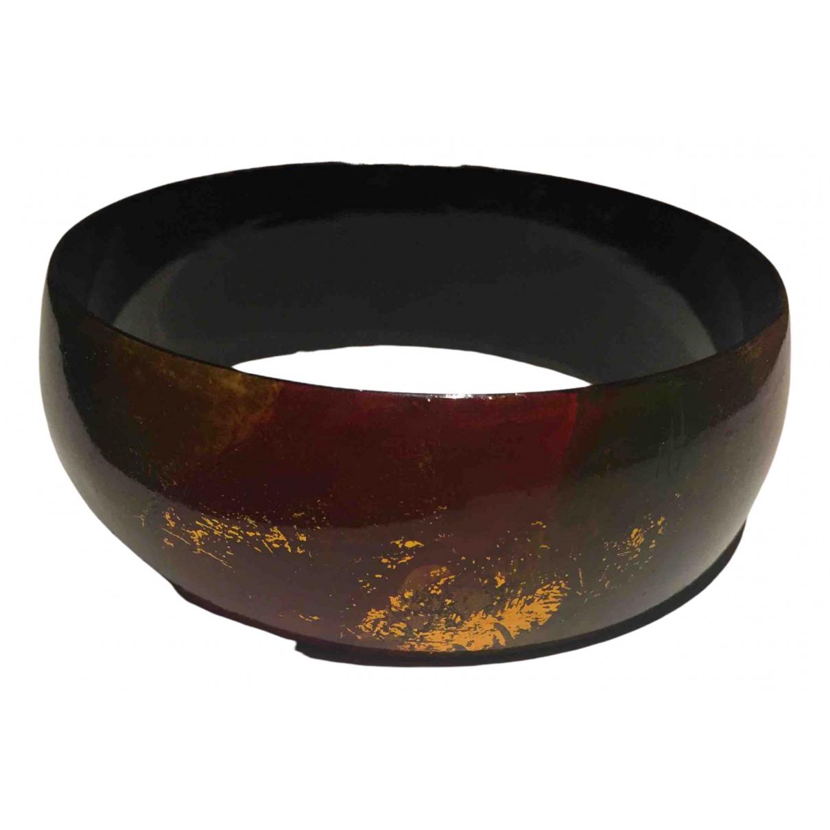 Non Signé / Unsigned Jonc Multicolour Wood bracelet for Women \N