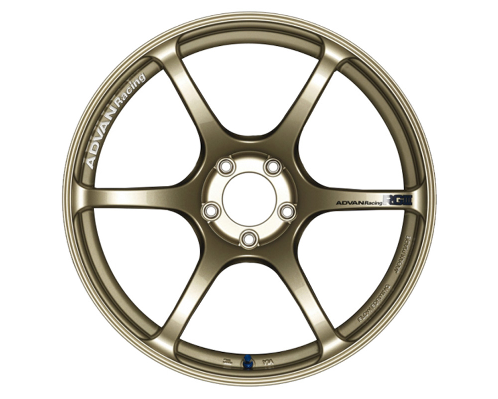 Advan RGIII Wheel 17x9 5x114.3 63mm Racing Gold Metallic