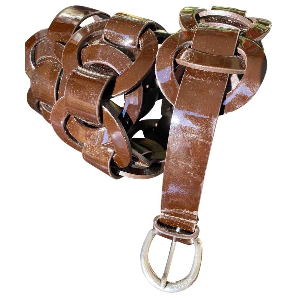 Rena Lange \N Brown Patent leather belt for Women 85 cm