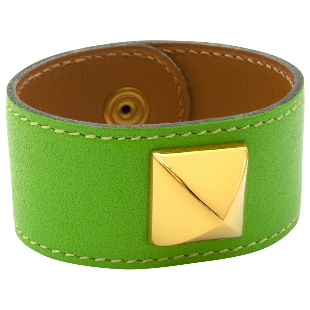Hermès Médor Green Leather bracelet for Women \N