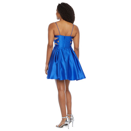 DJ Jaz Sleeveless Party Dress-Juniors, 7 , Blue