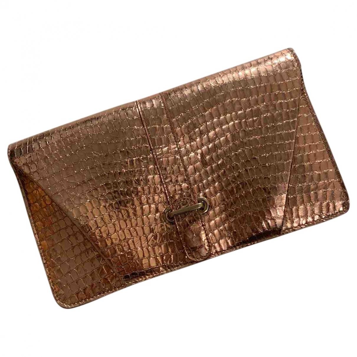 Genny \N Pink Leather Clutch bag for Women \N